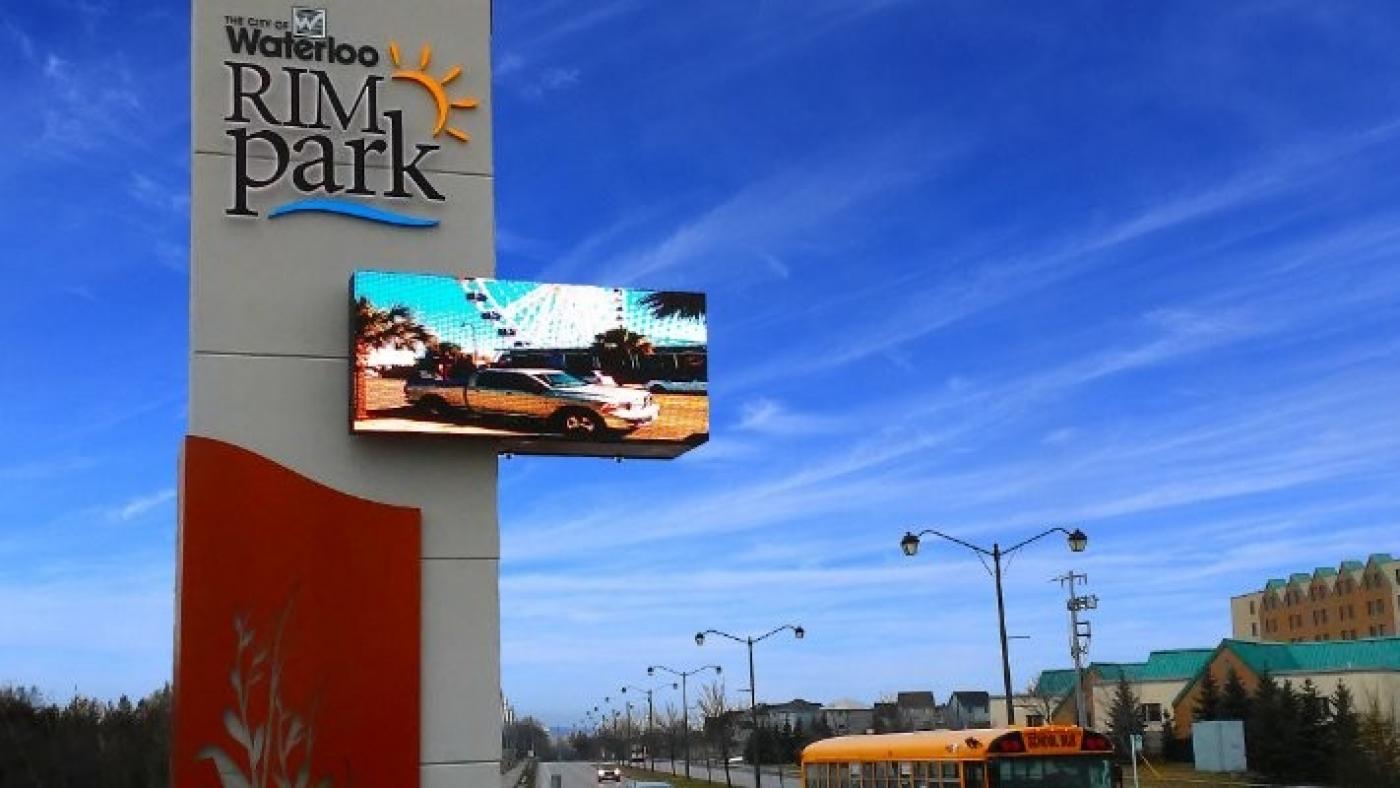 Waterloo RIM PARK Outdoor Hi-Resolution SMD-LED Install.